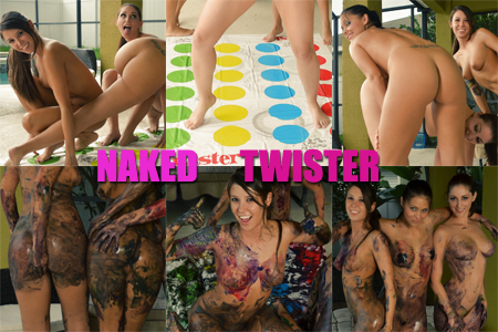 Naked Twister game with Bailey Knox, Misty Gates and Carlotta Champagne